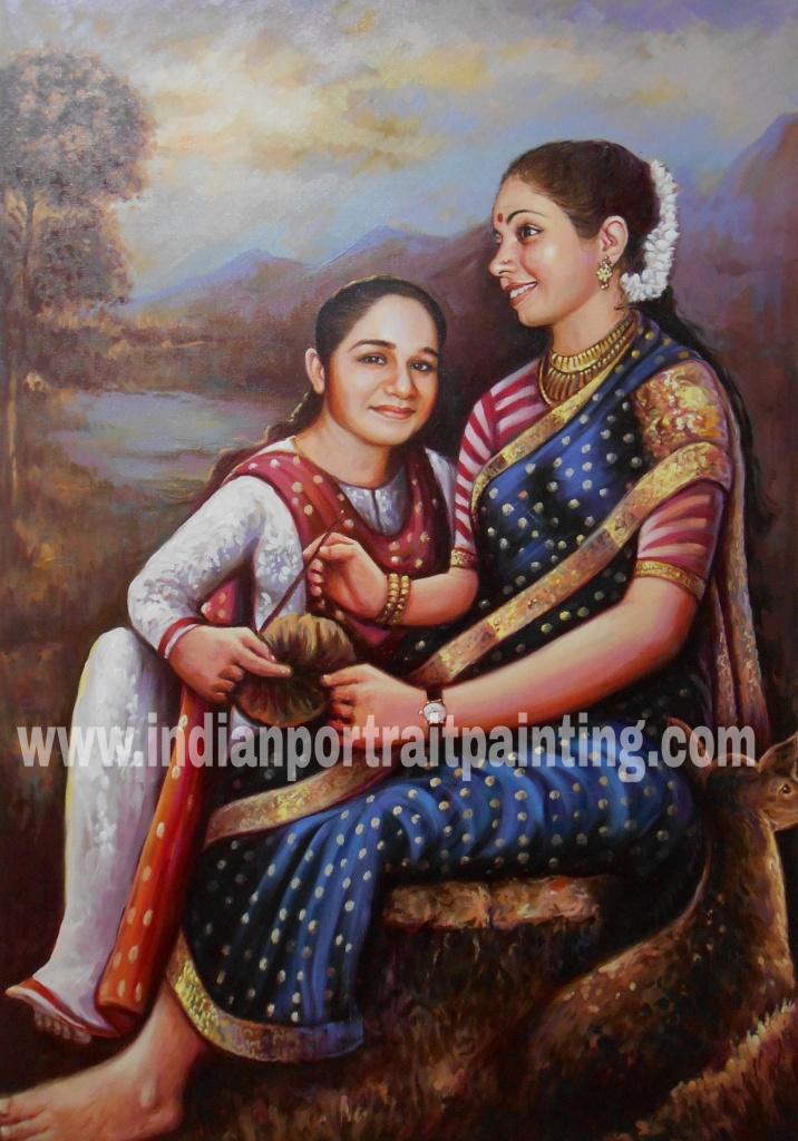 Famous indian portrait paintings