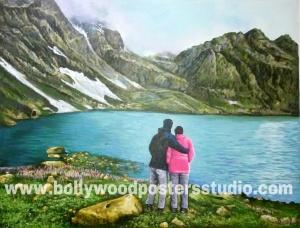 Acrylic hand made wallart paintings