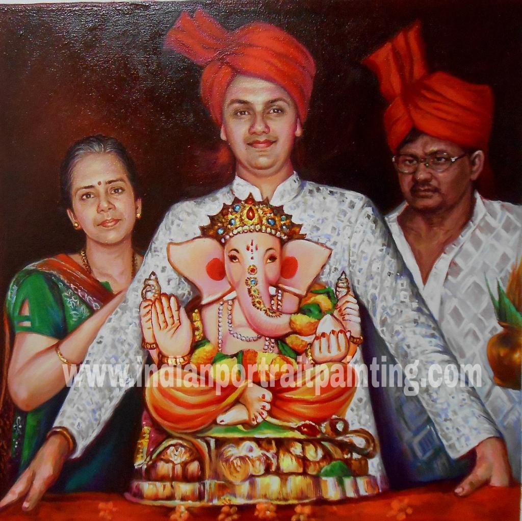 Indian religious portrait painting