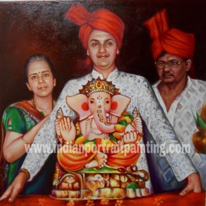 Indian religious portrait painting