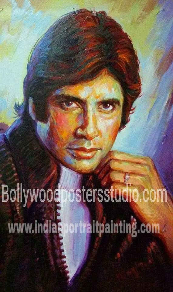 Palette knife art portrait oil on canvas - India