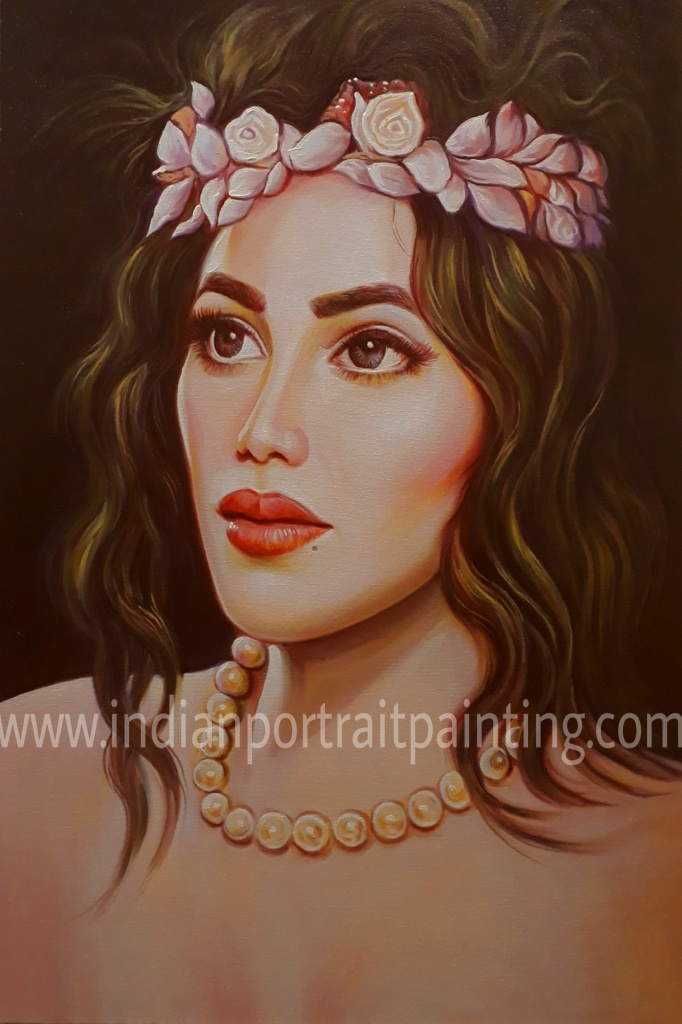 Personalized hand painted gift portrait, mumbai - India
