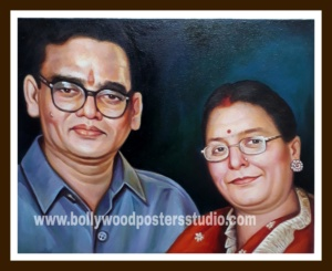 photo to oil portrait painting on canvas