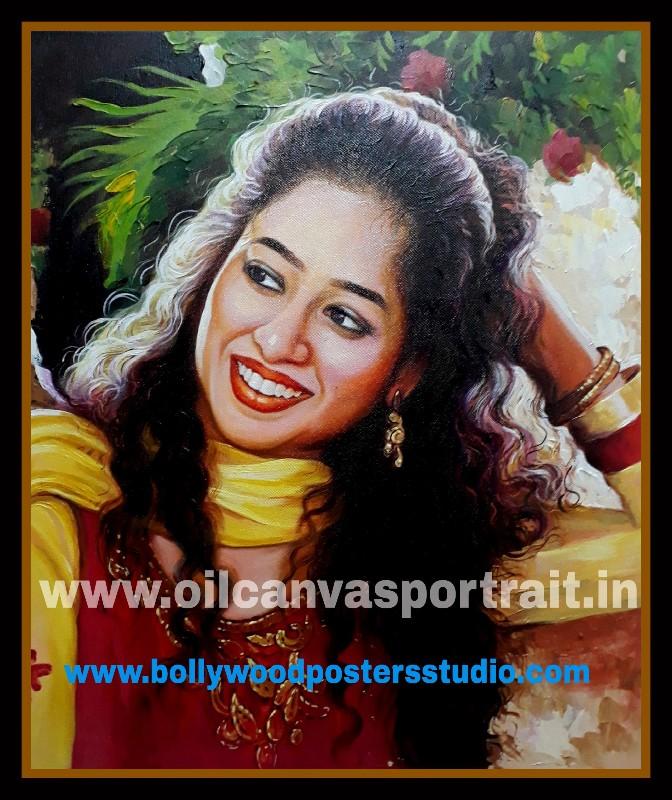 Custom paint portrait