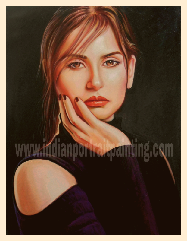 Oil portrait painting from photo