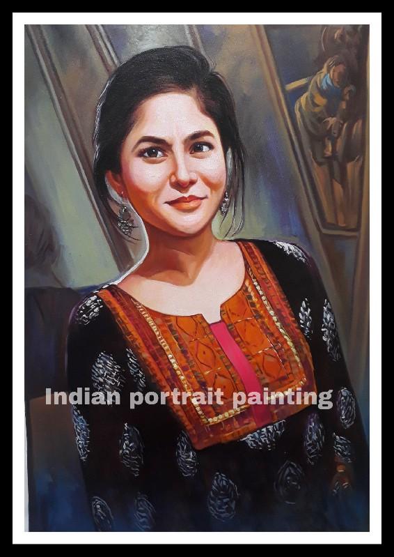 portrait hand painted