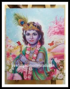 Bal krishna oil paintings