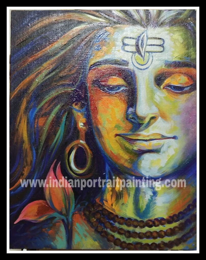 Creative Lord shiva modern art painting