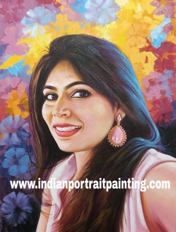 Oil canvas portrait painter and artists