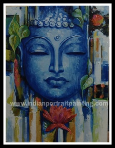 Contemporary oil painting Buddha