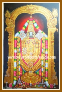 Hindu god Balaji original oil painting