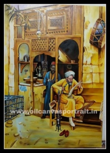 canvas oil painting -  arabian art