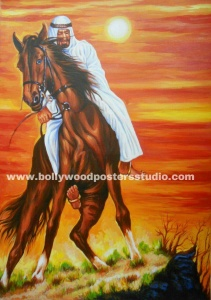 Arabic artwork horse paintings