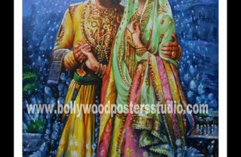 Custom bollywood poster painting art