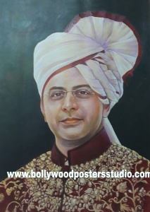 Custom portrait painting with oil on canvas