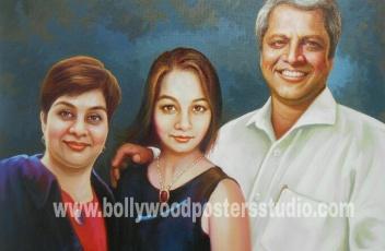 Oil paintings family portrait