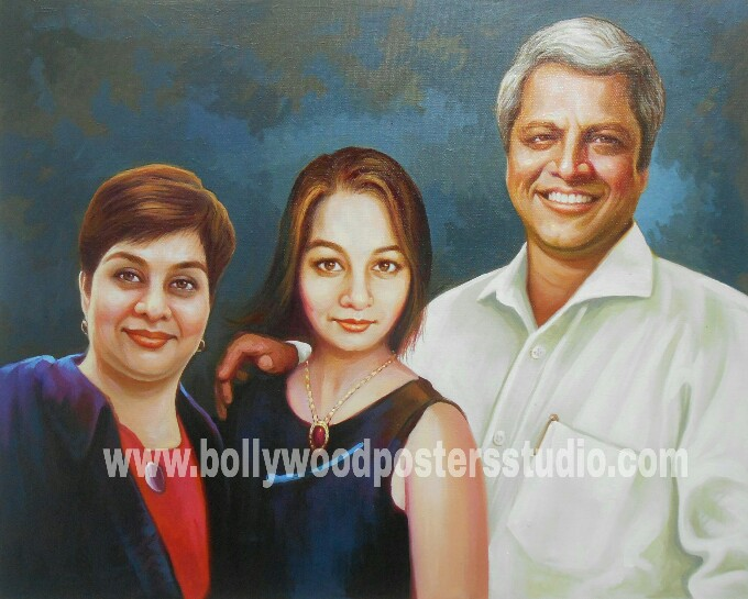 Oil paintings family portrait
