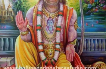 Original hand painted Hanuman ji on canvas
