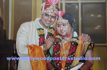 PORTRAIT PAINTINGS FROM WEDDING PHOTO