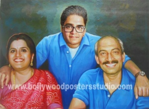 Personalized family gift portraits