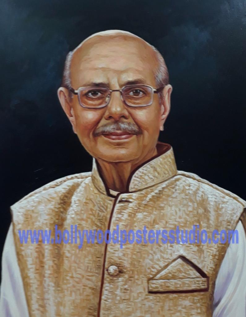 Portrait painting artworks oil on canvas