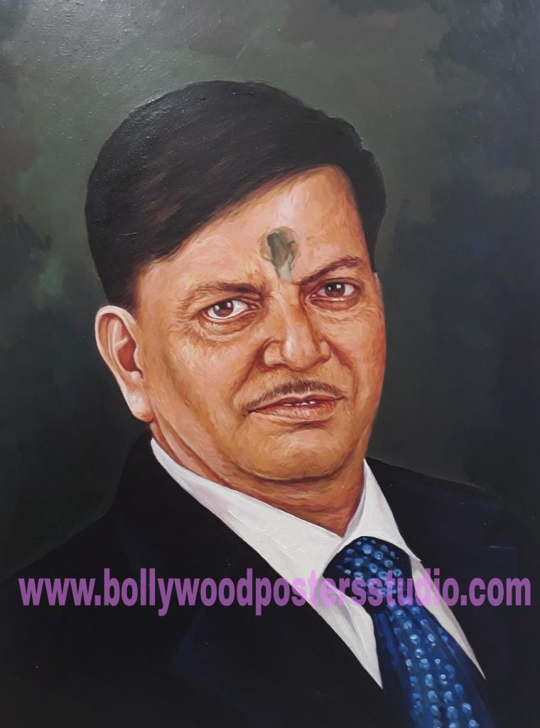 Unique hand painted portrait