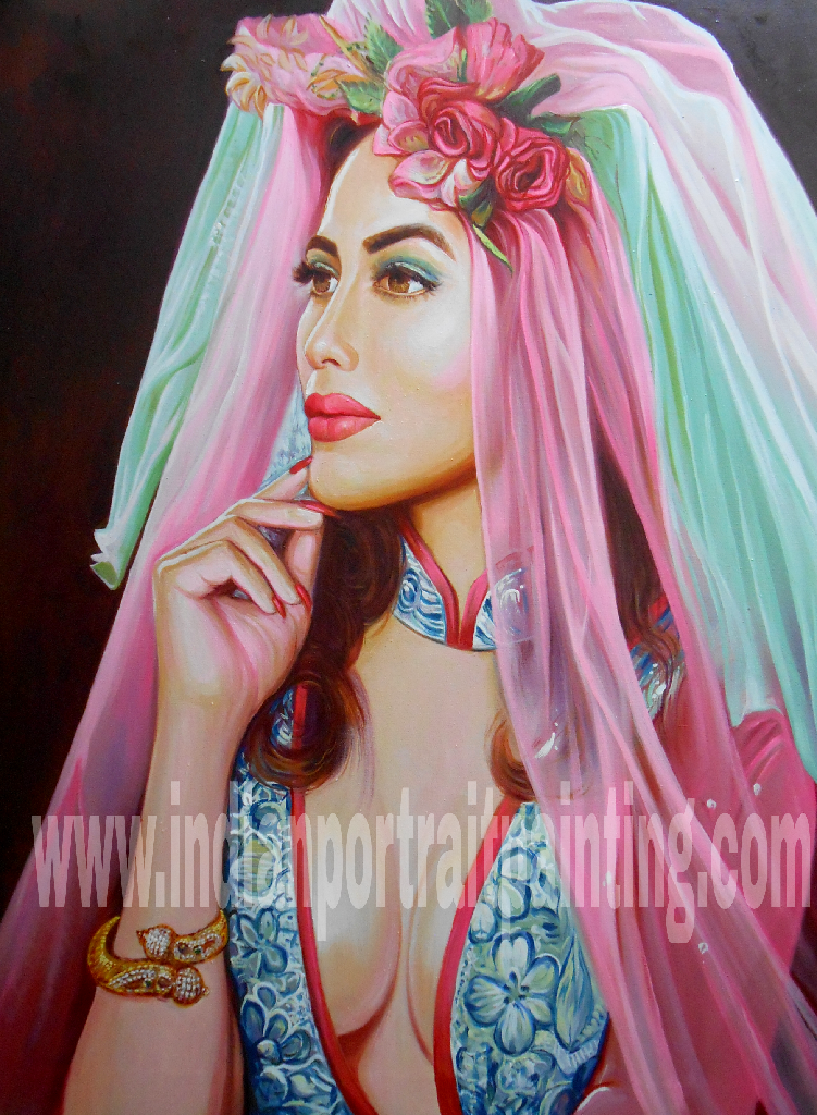 Portrait painting artist in Mumbai