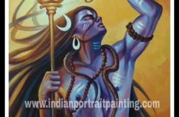 Lord Shiva hand made painting