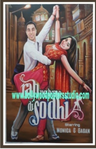 Custom bollywood posters hand painted art