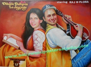 Hand painted custom bollywood posters from photos