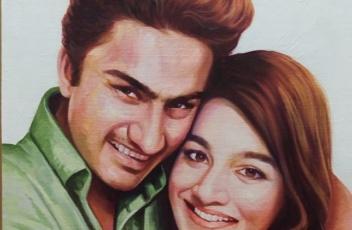 Convert photo to oil canvas portrait