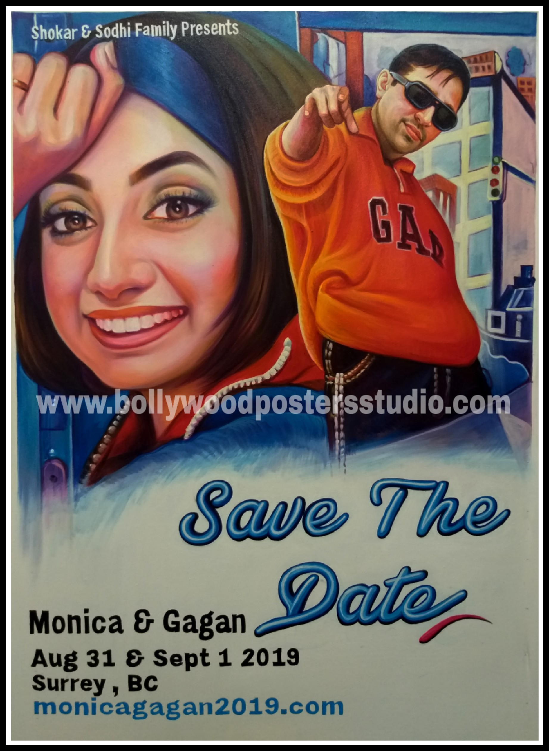 Bollywood Movie Poster Editor Online Indian Portrait Painting
