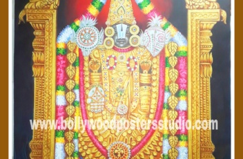 Hindu god Balaji original oil painting