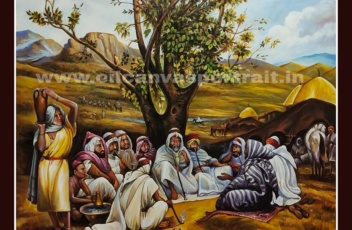 Paintings in oil on canvas - hand painted ancient arabian paintings