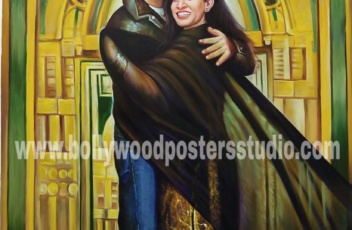Romantic custom bollywood posters couple gift online