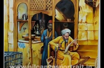 canvas oil painting - arabian art