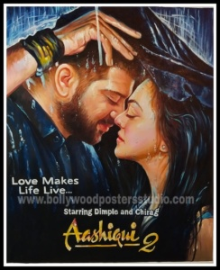 famous bollywood poster for wedding background decor