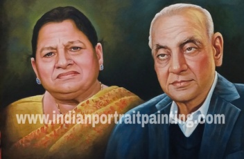 Grand parents portrait painting