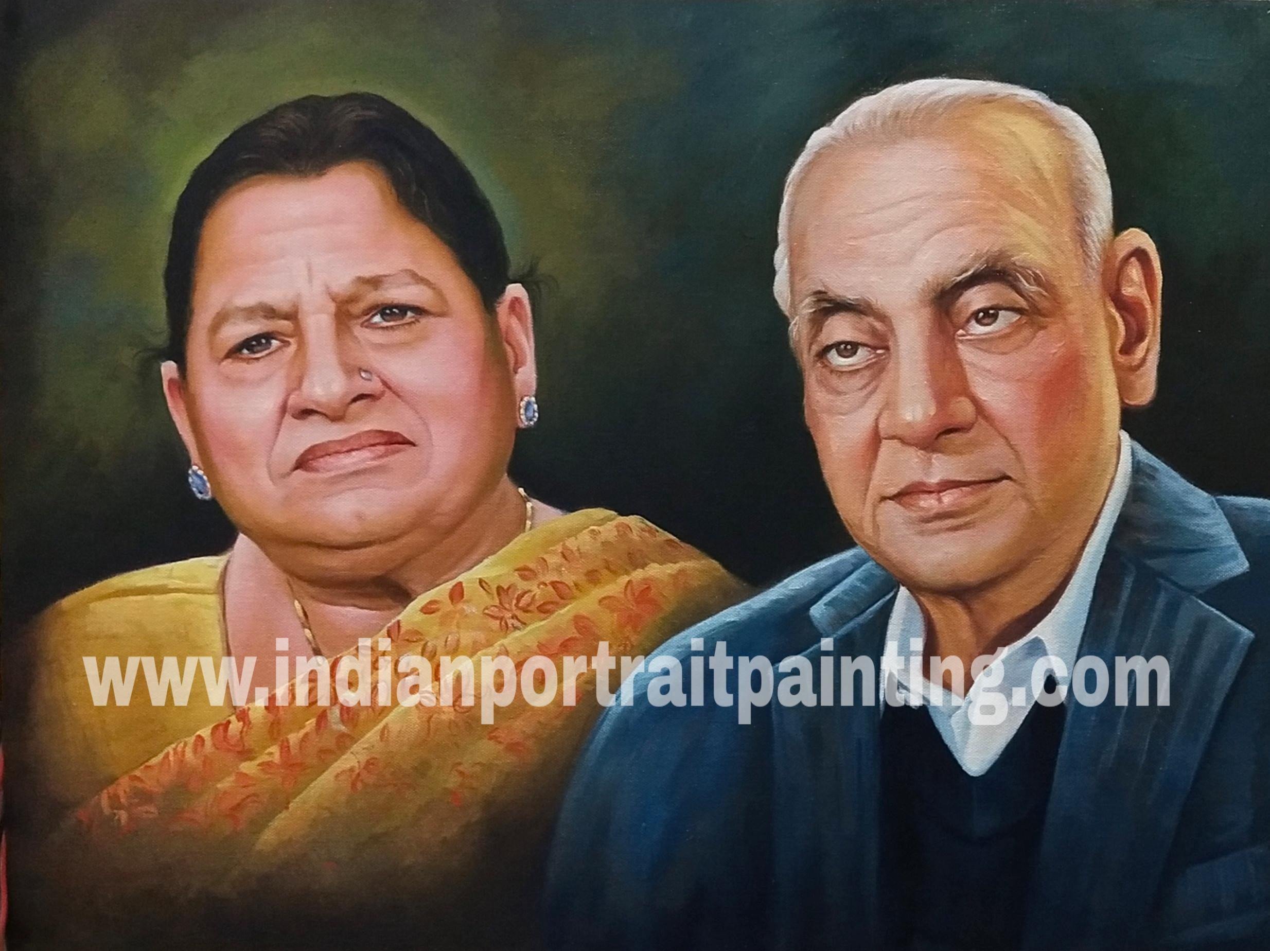 Grand parents portrait painting