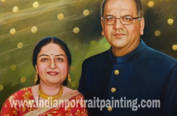 Portrait painting - unique birthday gift for mom & dad
